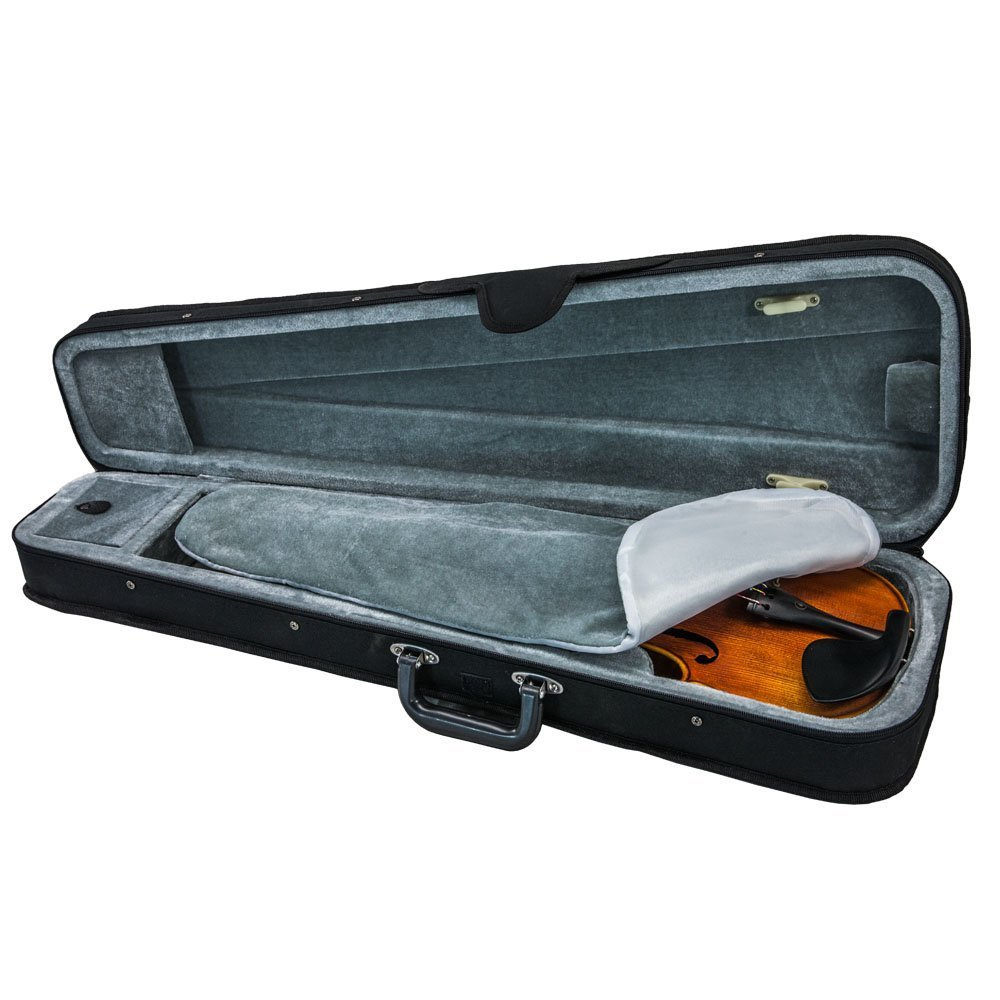 SKY Violin Triangle Case Lightweight 1/2 Size Black Color