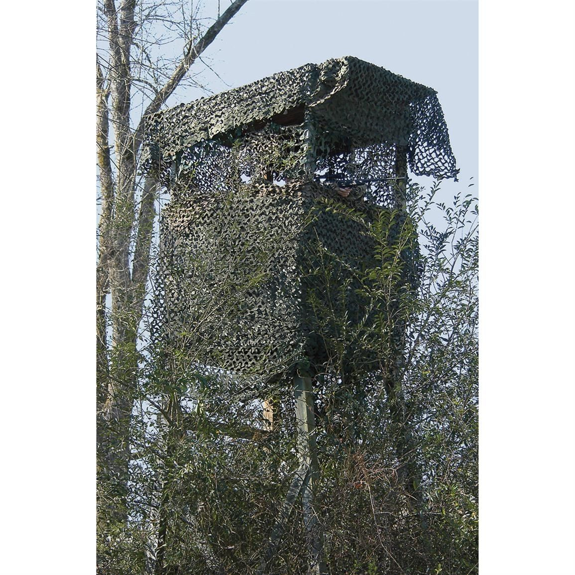 Hunting Woodland Netting Military Camo Tree Stand Ground Blind Cover Concealment