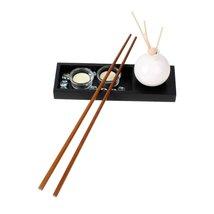 "Dark Brown Wooden Noodles cooking Chopsticks 42cm - 16.5"" Length - 1x Pair image 1"