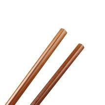"Dark Brown Wooden Noodles cooking Chopsticks 42cm - 16.5"" Length - 1x Pair image 4"