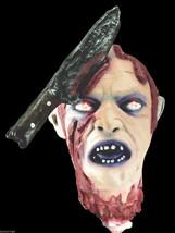 Screaming Light Up SEVERED HUMAN ZOMBIE HEAD Halloween Horror Prop Decor... - $29.67