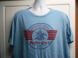 MENS SZ 2XL BLUE BUDWEISER TSHIRT T SHIRT EUC COOL - $9.40