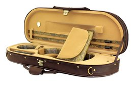 SKY Lightweight Half Moon Shaped Violin Case 4/4 Size (Brown/tan) - $107.79