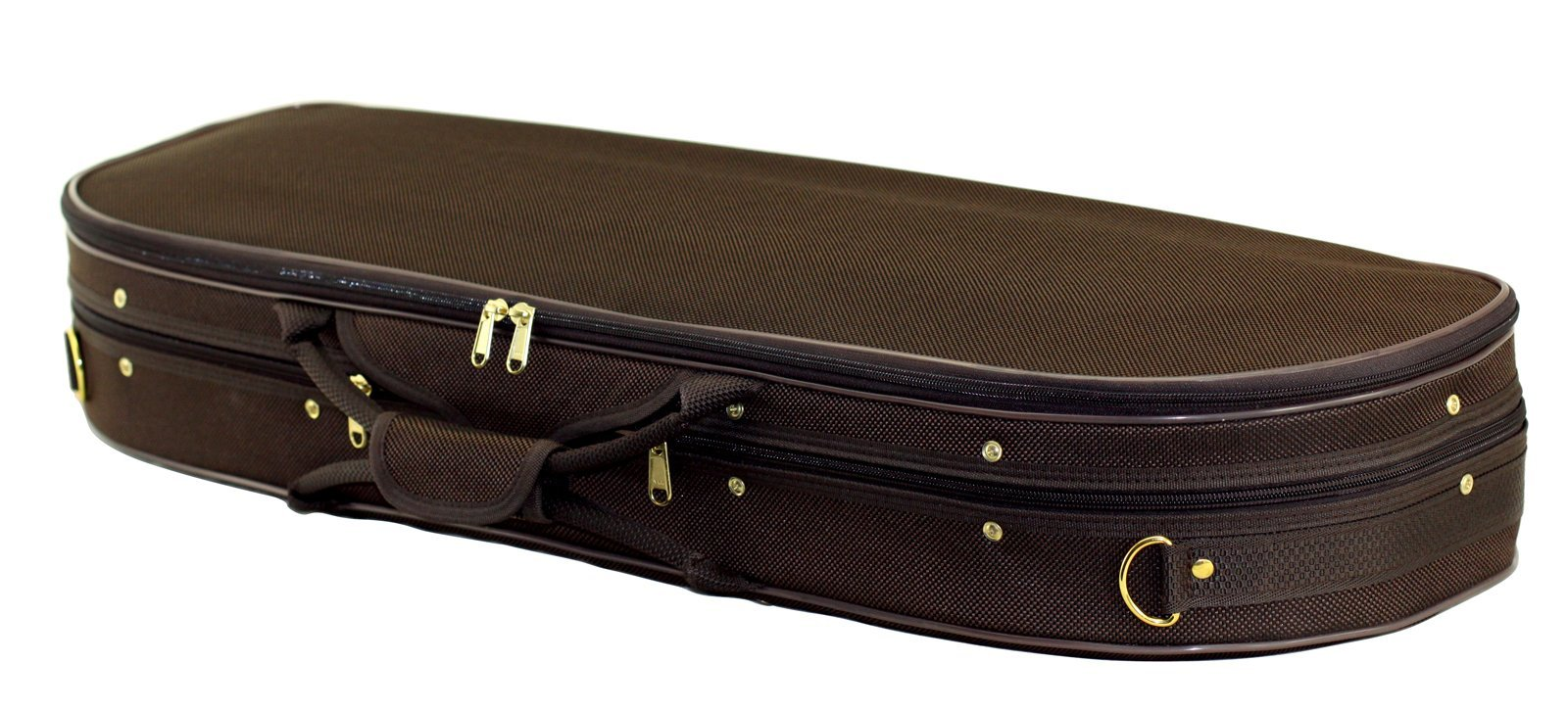 SKY Lightweight Half Moon Shaped Violin Case 4/4 Size (Brown/tan)