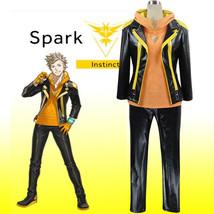 Pocket Monster Pokemon GO Yellow Team Instinct Spark Trainer Team Leader Cosplay - $98.99+