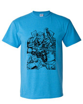 Cable t-shirt X-Force retro 80's comic book vintage style heather blue tee image 2