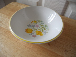 Johnson Bros 1M1 Ironstone Cereal Bowl VGC CUTE YELLOW FLOWERS FLORAL SE... - $19.12