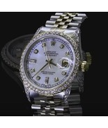 Mother of pearl dial rolex datejust watch diamo... - $10,395.00