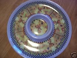 Round  Serving Tray Platter w center CHEF DESIG... - $6.13
