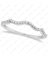 1.74 TCW Round Cut CZ White Gold Plated 925 Sterling Silver Wedding Band... - $48.99