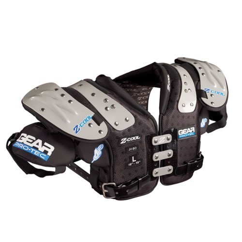 Gear Pro-Tec Z-COOL QB/DB/WR Football Shoulder Pads, Small