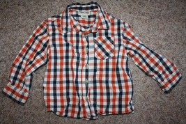 Cherokee Plaid Button Down Collar Shirt 24 Months Great Condition - $7.91