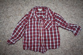 Cherokee Plaid Button Down Collar Shirt 2T Great Condition - $5.93