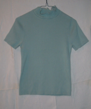 Christopher & Banks Woman's Short Sleeve Blue/Green Sweater Sz S Cotton ... - $6.95