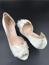 Ivory Bridal Shoes, Wedding Heels, Ivory wedding Heels, Bridal Heels, Lo... - £54.70 GBP