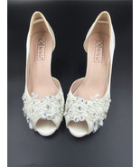 5cm Heels Ivory White Lace Wedding Shoes/Low Heels Bridals Party Evening... - $68.00