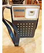 Vintage Commodore 6 Transistor AM Radio with case - $22.72