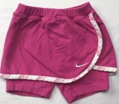 NIKE Baby Girls Skort Bike Active Short Pink White Sz 24 Mos Cotton - $17.02