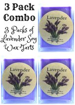 COMBO 3 Packs of Lavender 3.2 Ounce Pack of Soy Wax Tarts - Scent Brick ... - £7.04 GBP