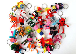 NEW Lot 20 String VOODOO Doll Keyring Keychain ... - $23.36