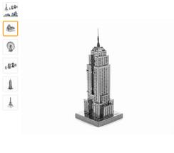 3D Puzzle Metal Earth Laser Cut Model Jigsaws  World's Famous Building A10 - $10.00
