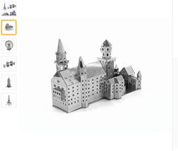 3D Puzzle Metal Earth Laser Cut Model Jigsaws  World's Famous Building A16 - $11.00