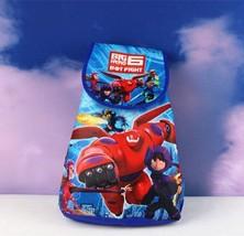 Big Hero 6 Drawstring Child Cartoon Backpack - Random color and design