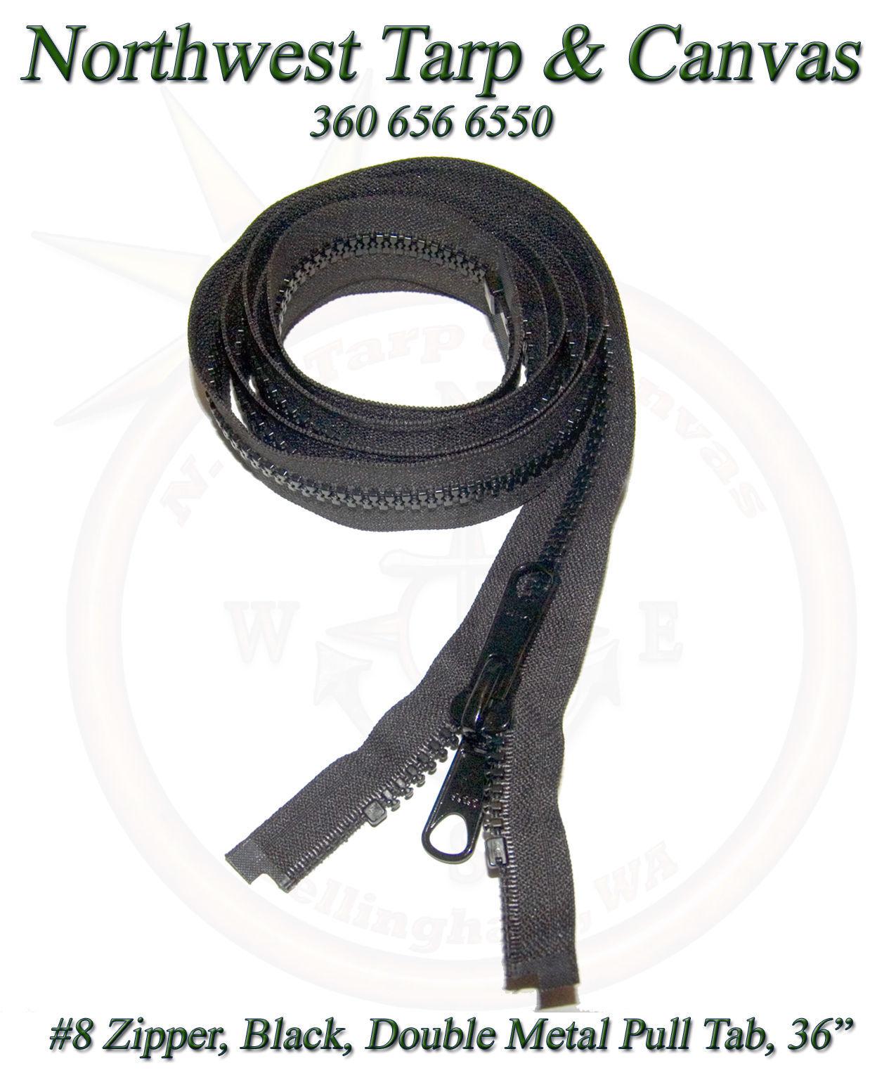 "40/"" Inch White #10 Separating YKK Zipper Vislon Double Metal Tab Slider"