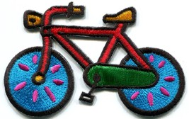 Bicycle retro bike 70s applique iron-on patch new S-126 - $2.95