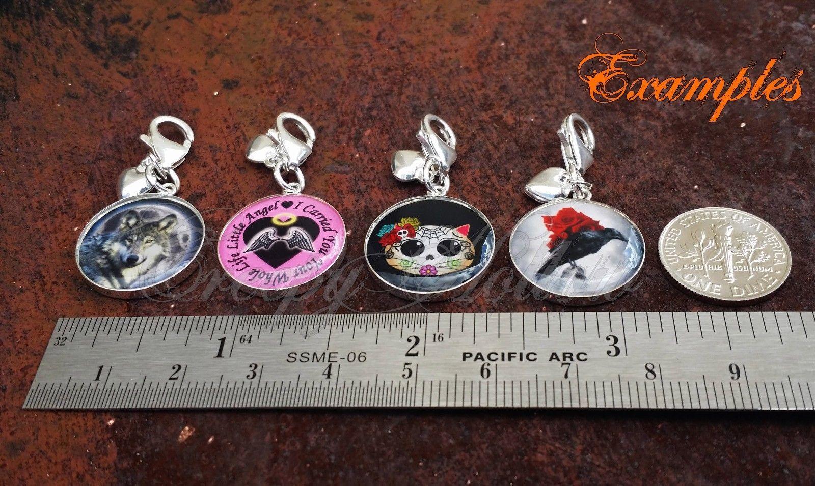 925 Sterling Silver Charm Broken Heart Stitched Together Emo Love image 3