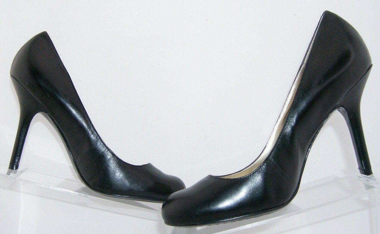 Jessica Simpson 'Henri' black leather patent round toe slip on heels 9.5B 6348 image 3