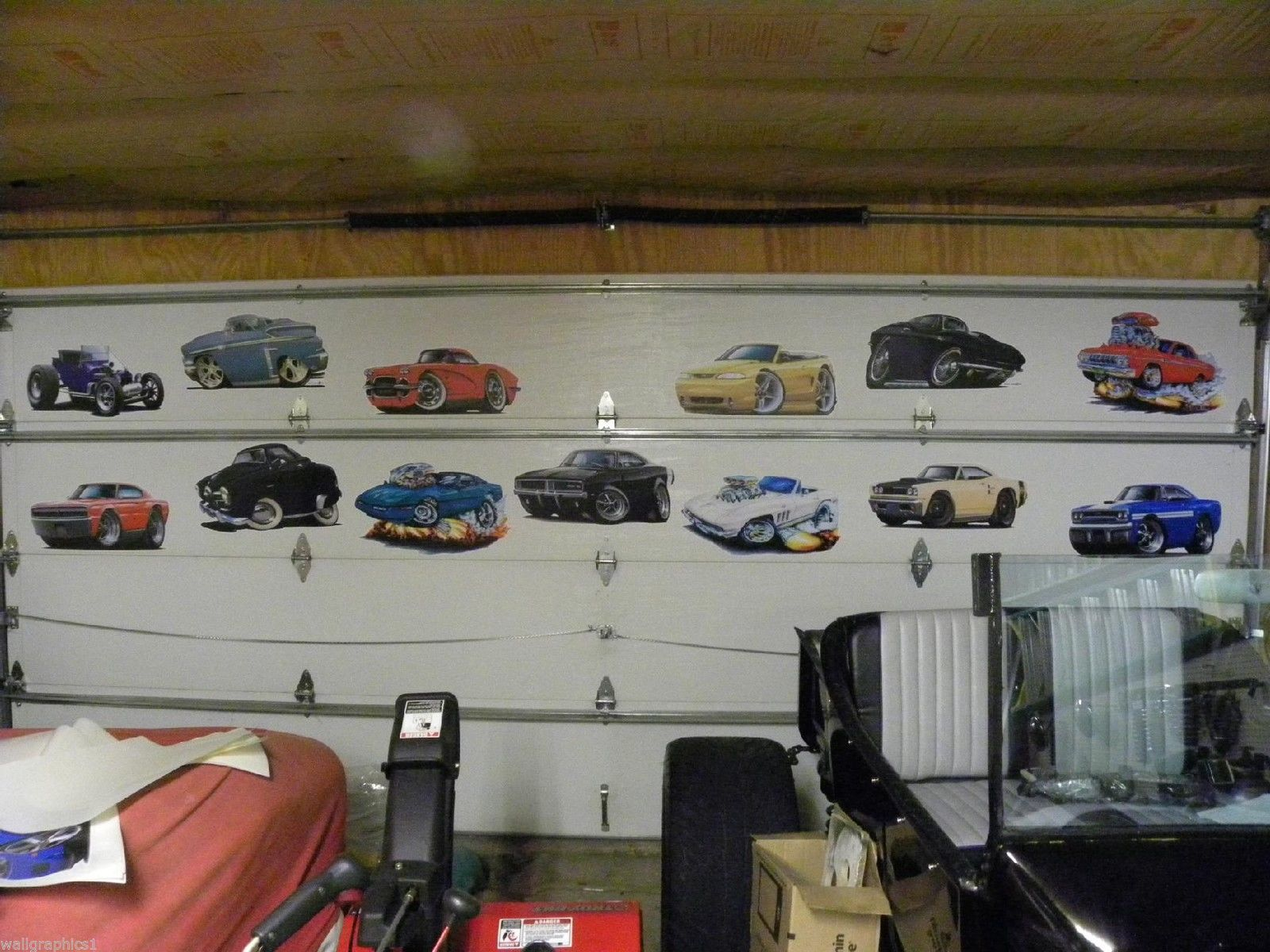 Ford Man Cave Decor : Ford thunderbird ft long wall graphic and similar items