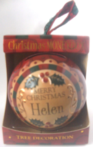 """Christmas Bauble - """" Helen """". - $3.95"""