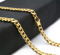 """14k Gold Plated Stainless Steel Heavy HipHop 11mm 30"""" Miami Cuban Chain ... - $29.69"""