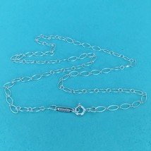 "Tiffany & Co 16"" Sterling Silver Oval Link Chain Necklace NEW - $65.00"