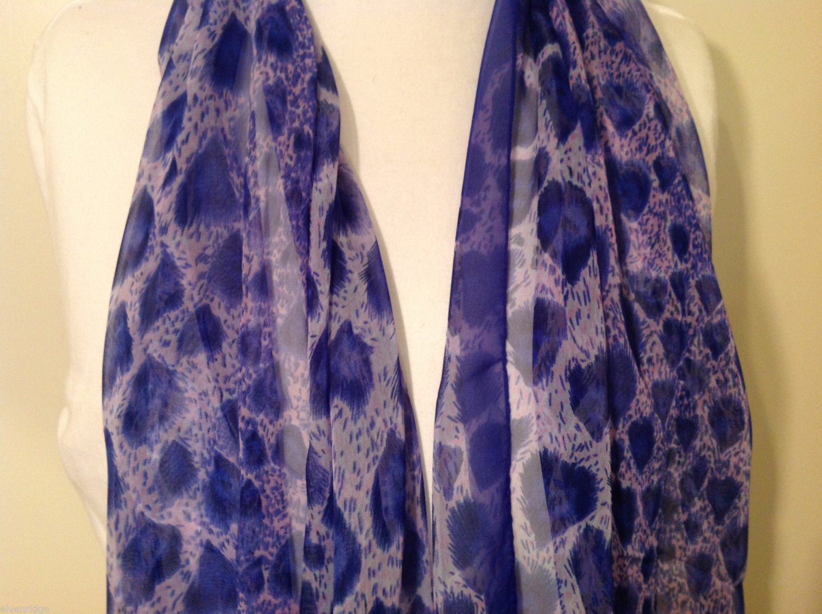 Light weight Sheer Fabric Feathers print Scarf, colors of your choice