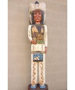 224448 0050ind 1035358 cigar store indian chief carved wooden indian by frank gallagher 6 feet tall thumbtall