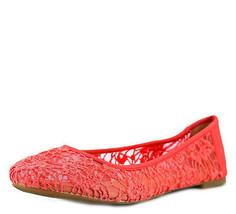 Lucky Brand Elisabeta Flats Cayenne 7M MSRP 69 New - $61.99