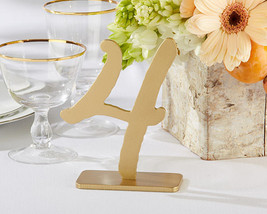 Good As Gold Classic Wedding Table Numbers (1-6) Party Reception Event D... - $25.72