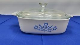 Vintage Corning Ware Blue Cornflower  A I B, 1 QUART, with Glass Lid (P-7-C)  5  - $33.99