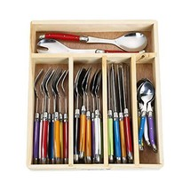Flying Colors Laguiole Stainless Steel Flatware Set. Multicolor Handles ... - $67.06