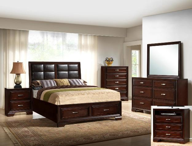 Crown Mark RB6515 Jacob Storage Queen Bedroom Set Contemporary 2 Night Stands
