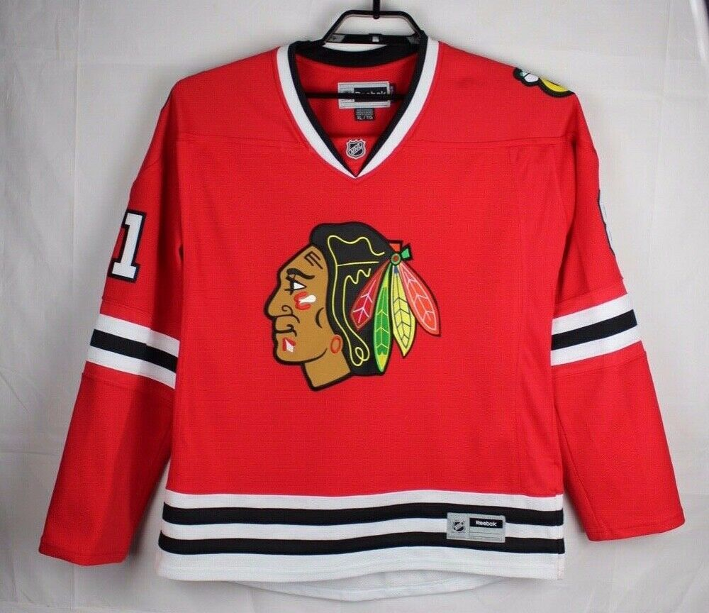 Primary image for Reebok Chicago Blackhawks Hossa 81 women's jersey sewing size XL/TG