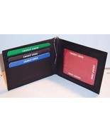 "Black Leather Bifold Money Clip / Wallet by American Standard - 4 1/4"" x... - $5.41"