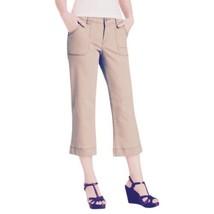 $79 4P Jag Jeans Petites Carson Crop Baby Camel Khaki Cargo Women's Beige 4 - $24.69
