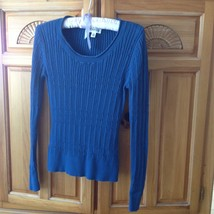 Womens Blue Knit Long Sleeve Top Size Small by St Johns Bay - $29.99