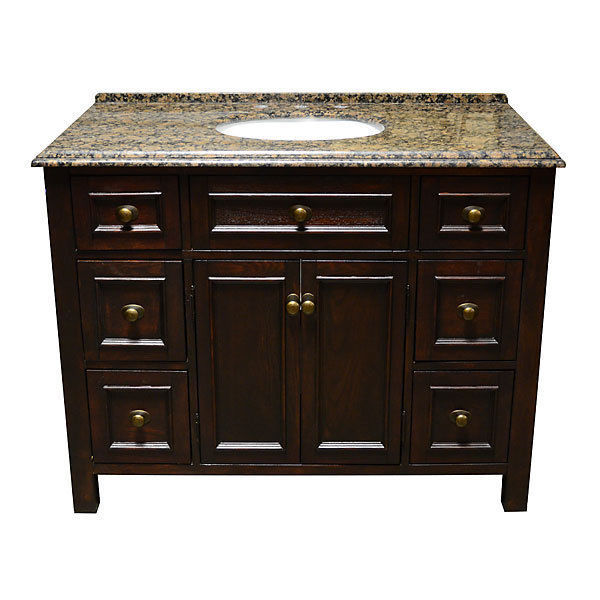 "67"" Mahogany Marble Top Double Bathroom Sink Vanity ..."