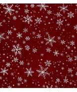 Per Yard, Critter Christmas, Snowflakes on Dark... - $13.43