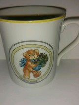 Vintage 1983 Lucy Rigg Japan Coffee CONGRATULATIONS Mug Enesco - collectible - $22.76