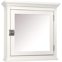 White Medicine Cabinet 18 inch Wooden Bathroom Storage Cupboard Mirrored... - $93.97